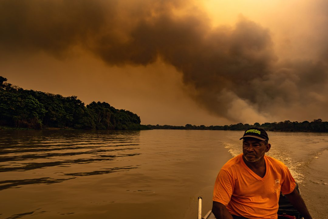 Fogo e devastação no Pantanal mato-grossense